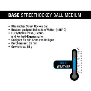 BASE STREETHOCKEYBALL MEDIUM ORANGE 1 Stk
