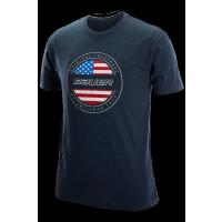 Bauer Tee USA Flag marine Yth