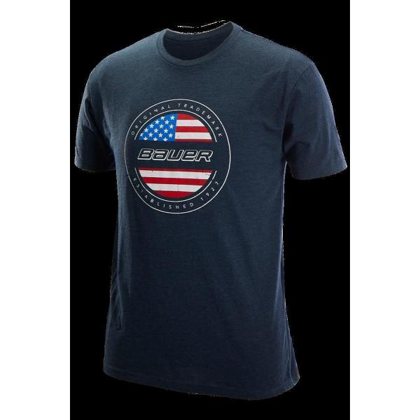 Bauer Tee USA Flag marine Sr.